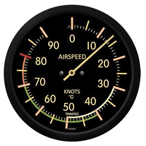 Vintage Airspeed Indicator Thermometer (Celsius)