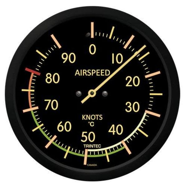 Trintec Industries Vintage Airspeed Indicator Thermometer 0 Celsius