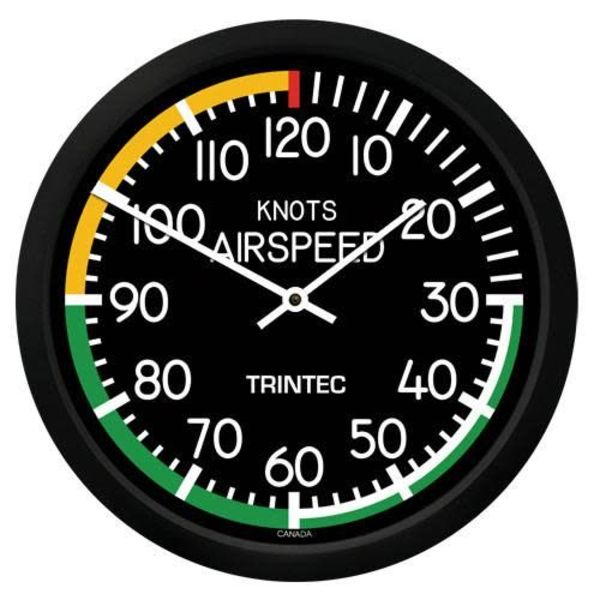 Trintec Industries Modern Airspeed Indicator Clock