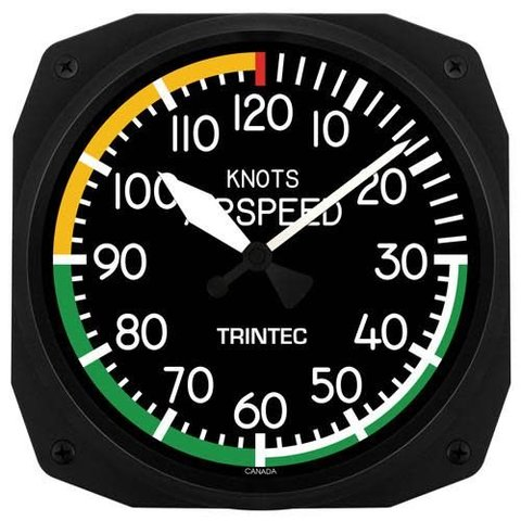 """Airspeed Instrument Style 10"""" Clock"""
