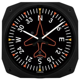"""Trintec Industries Directional Gyro Instrument Style 10"""" Clock"""