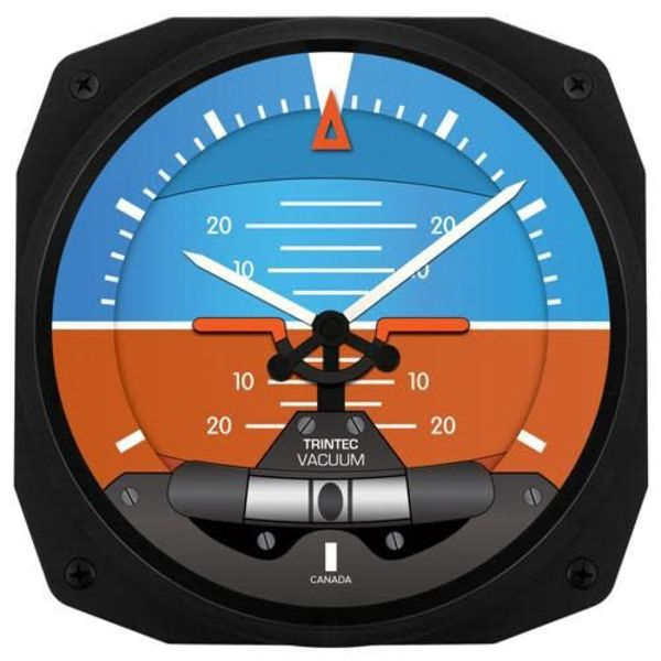 Trintec Industries Artificial Horizon Instrument Style Clock