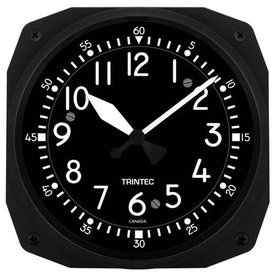 "Trintec Industries Classic 10"" Cockpit Instrument Style Clock"