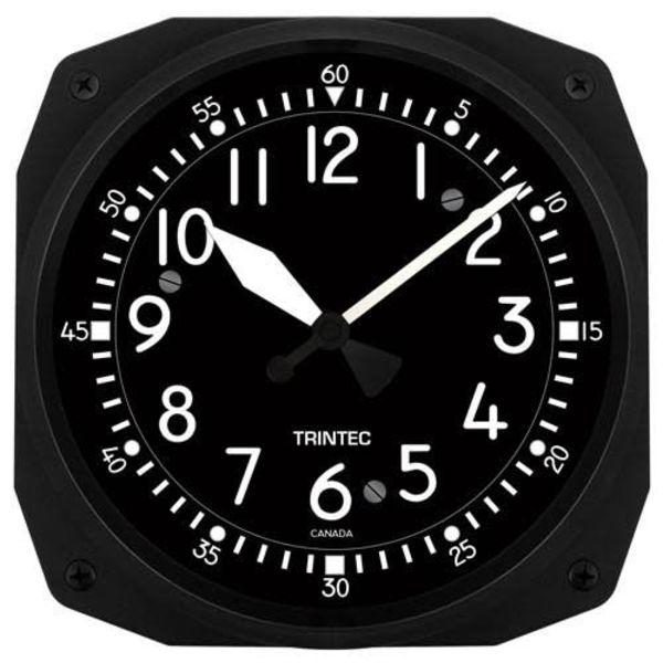 Trintec Industries Classic Cockpit Instrument Style Clock