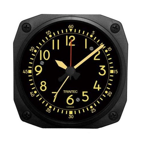 Vintage Cockpit Style Alarm Clock