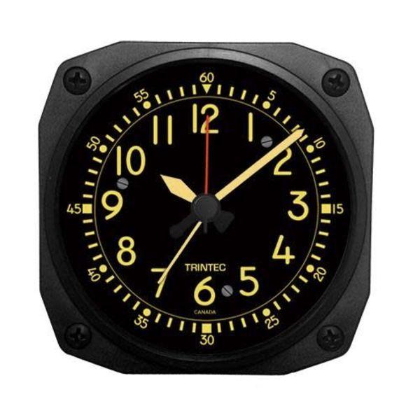 Trintec Industries Vintage Cockpit Style Alarm Clock