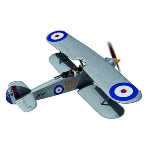 Hawker Hart 54 Squadron RAF J9941 57 silver 1:72 with stand