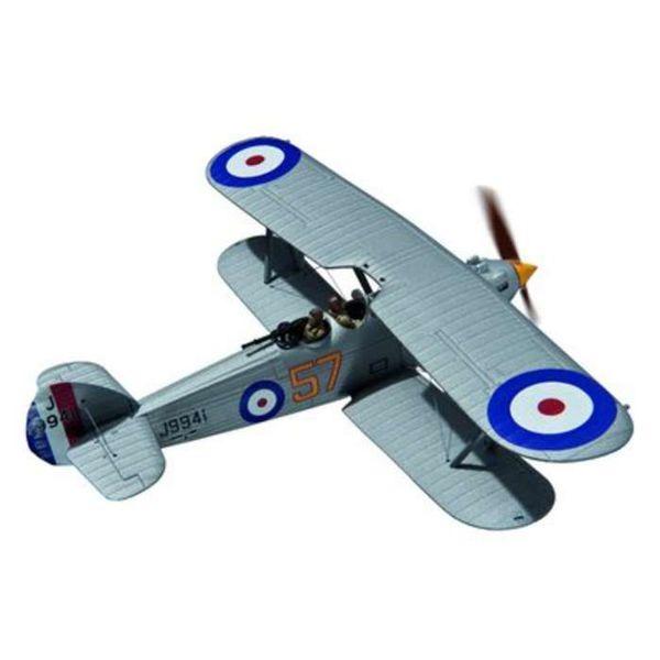 Corgi Hawker Hart 54 Squadron RAF J9941 57 silver 1:72 with stand