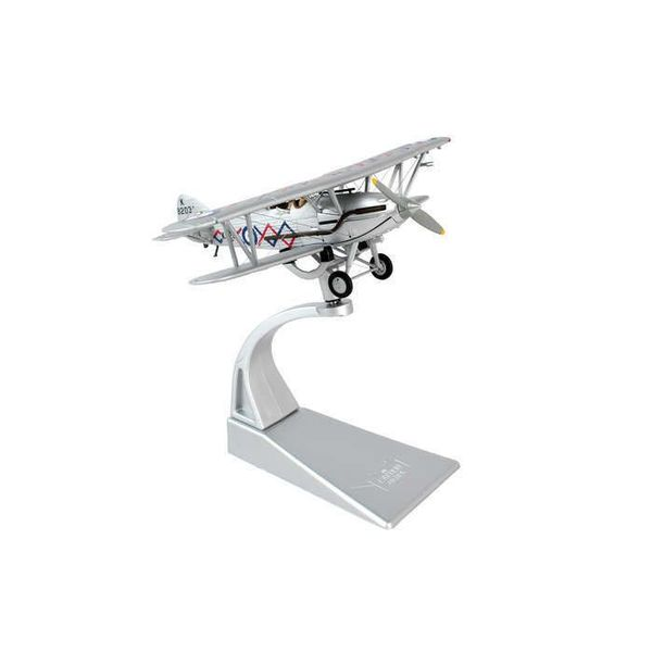 Corgi Hawker Demon Shuttleworth Collection K8203 Silver 1:72 with stand