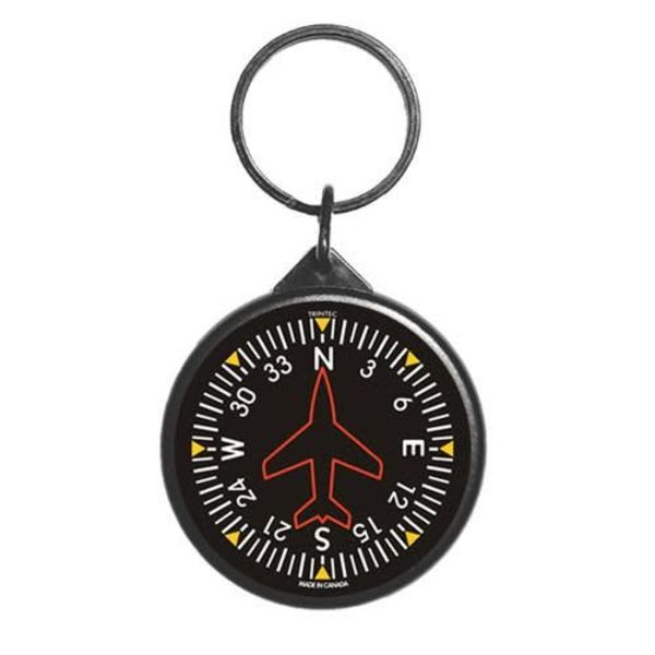 Trintec Industries Classic Round Directional Gyro Keychain