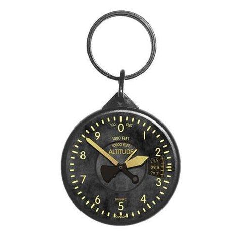 Vintage Round Altimeter Keychain