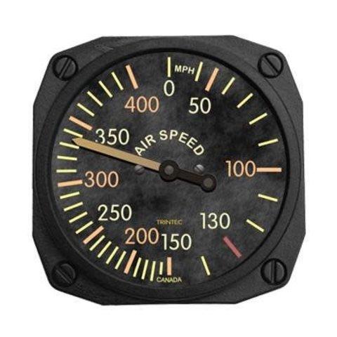 Vintage Airspeed Indicator Fridge Magnet