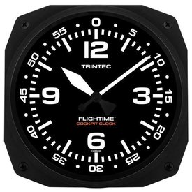 "Trintec Industries 10"" FLIGHTIME Instrument Style Cockpit Clock"