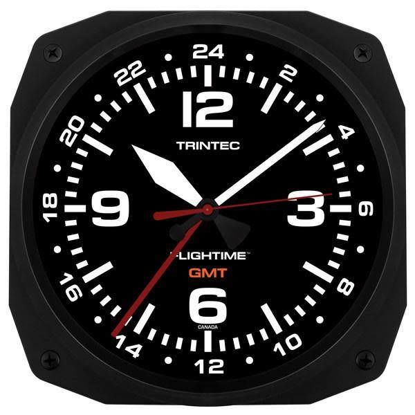 "Trintec Industries 10"" FLIGHTIME Instrument Style GMT Dual Time"
