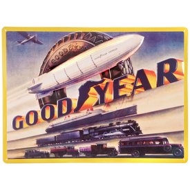 Sporty's Goodyear Blimp Metal Sign