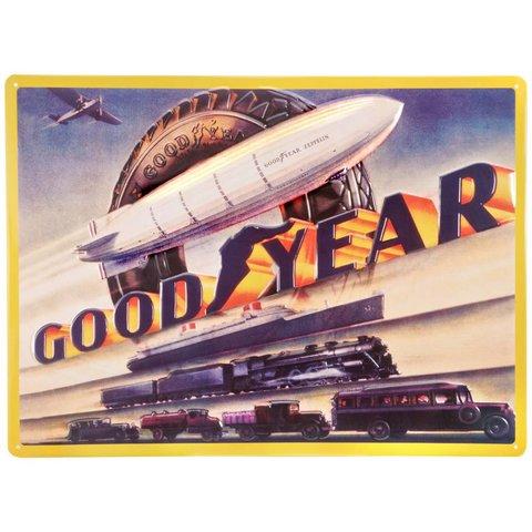 Goodyear Blimp Metal Sign