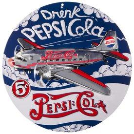 Sporty's Pepsi Cola DC3 Metal Sign
