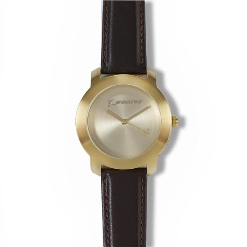 Gold Rotating Airplane Watch - Men's Sizing