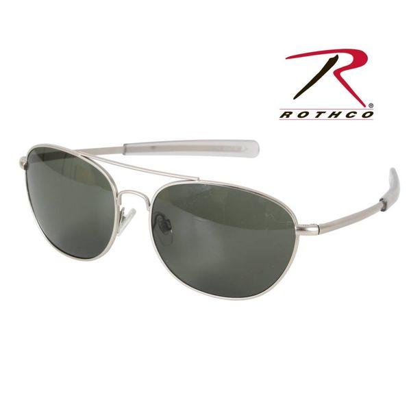 Rothco G.I. Type Aviator Sunglasses Black Smoke 58mm