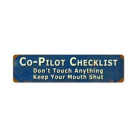Copilot Metal Sign