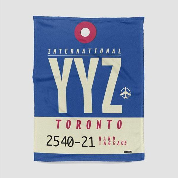 "Airportag YYZ Stadium Blanket 30"" x 40"""