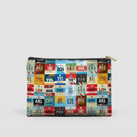 """World Airports Pouch Bag 12.5"""" x 8.5"""""""