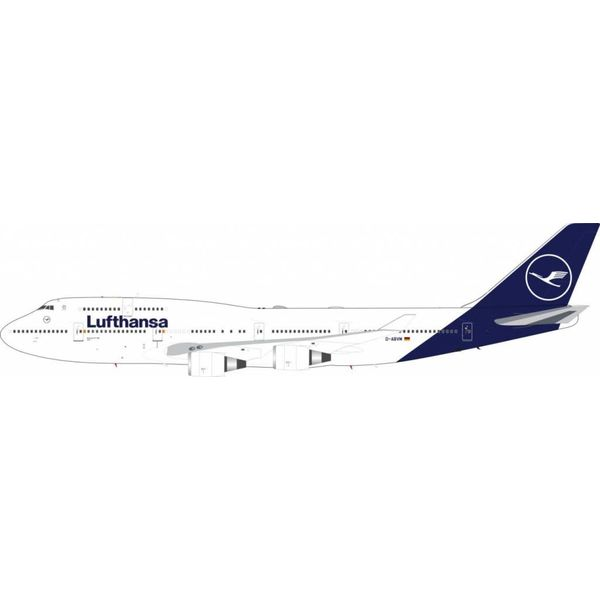 JFOX B747-400 Lufthansa new livery 2018 D-ABVM 1:200 with Stand