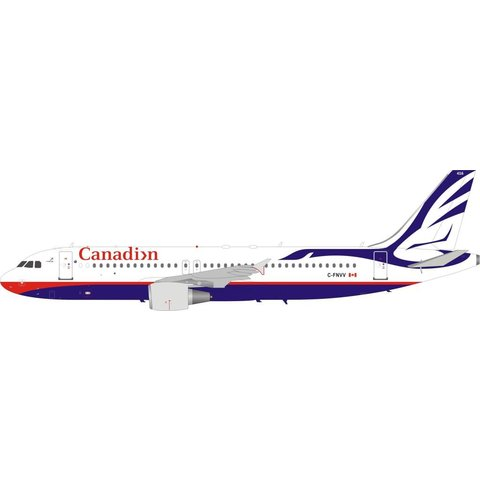 A320 Canadian Airlines Proud Wings livery C-FNVV 1:200 with stand