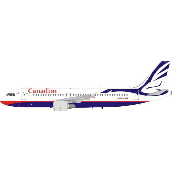 InFlight A320 Canadian Airlines Proud Wings livery C-FNVV 1:200 with stand