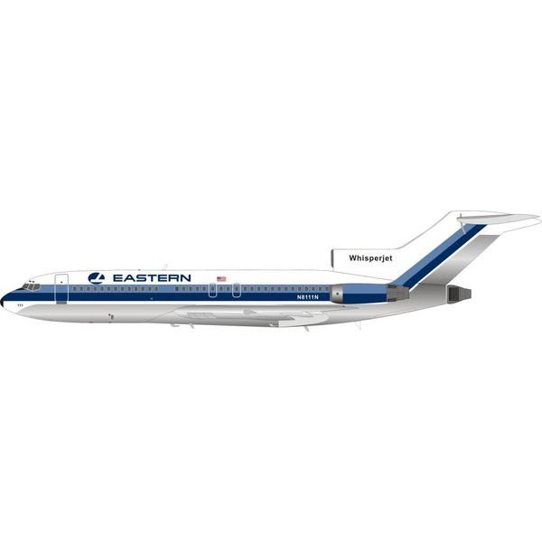 InFlight B727-100 Eastern Airlines Whisperjet (hockey stick livery) N8111N 1:200 polished with stand