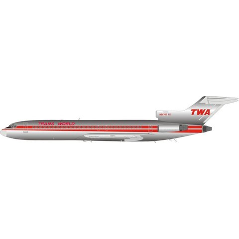 B727-200 TWA TRANS WORLD N64339 1:200 polished with stand