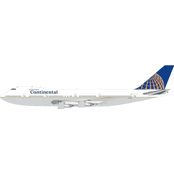 InFlight B747-200 Continental Airlines 1991 Livery N33021 1:200 With Stand