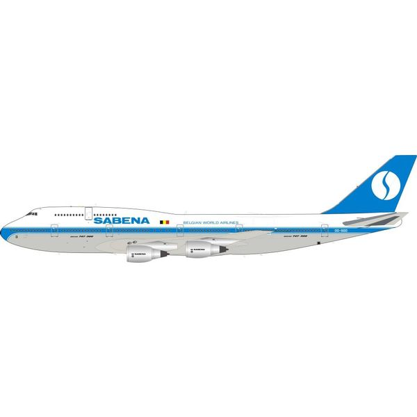 InFlight B747-300 Sabena OO-SGD 1:200 with Stand