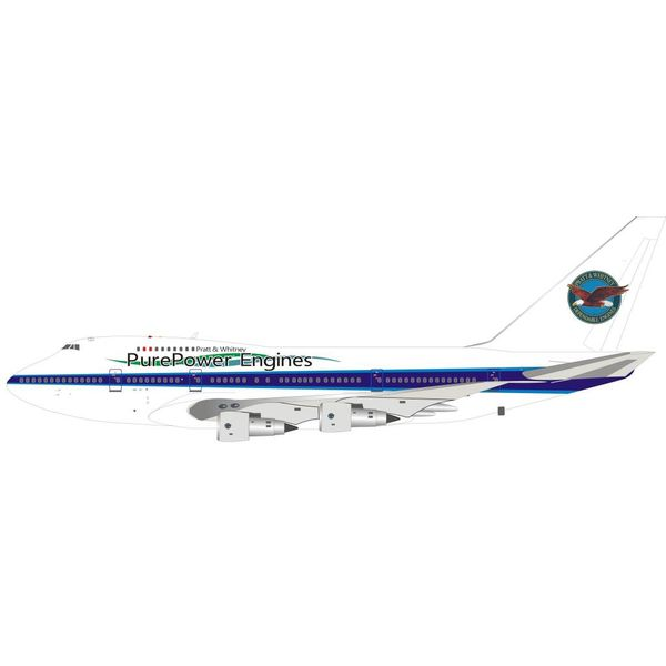 InFlight B747SP Pratt & Whitney Canada Pure Power Engines C-FPAW  1:200 with stand