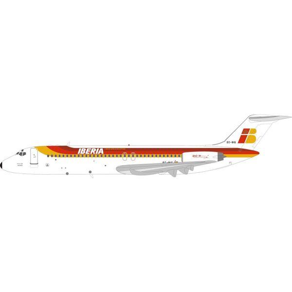 InFlight DC9-30 Iberia EC-BIG Villa de Madrid 1:200 with stand