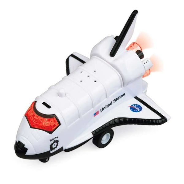 Daron WWT Space Shuttle Atlantis Pullback Toy with lights & sound