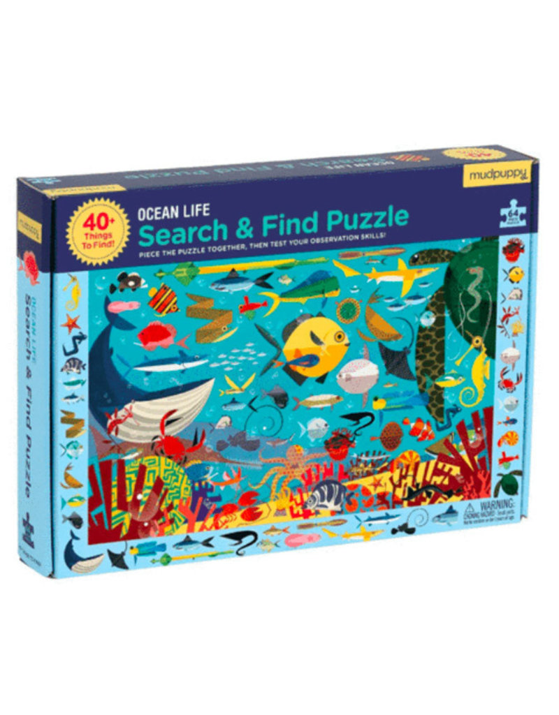 Search & Find OCEAN LIFE (64 pieces)