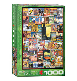 Eurographics Puzzle: Vintage Poster Art WORLD TRAVEL (1000 pieces)