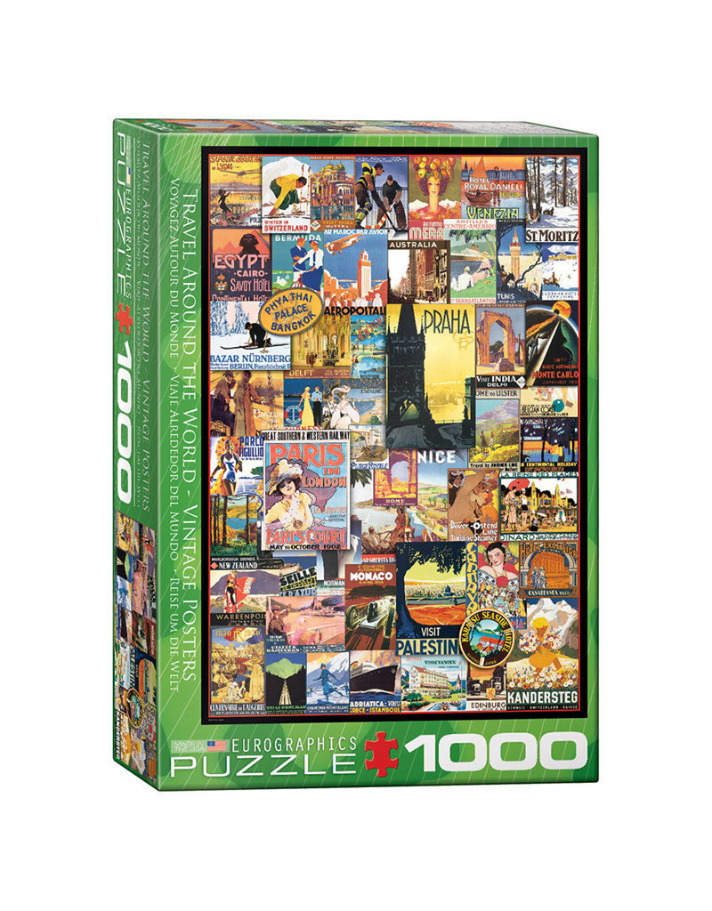 Eurographics Vintage Poster Art WORLD TRAVEL (1000 pieces)