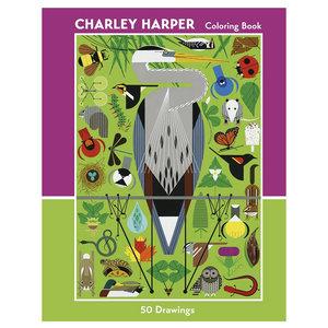 Coloring Book: CHARLEY HARPER 50 DRAWINGS