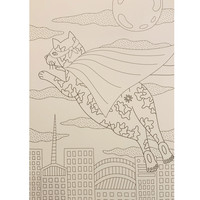 Chronicle CAT BUTT Coloring & Activity Book