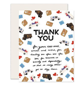 Slightly Greeting Card: MAIL & DELIVERY WORKERS Thank You