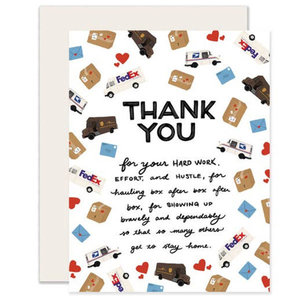 Greeting Card: MAIL & DELIVERY WORKERS Thank You