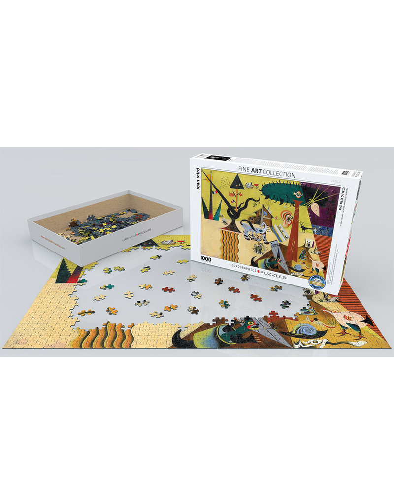 Eurographics TILLED FIELD by Joan Miro (1000 pieces)