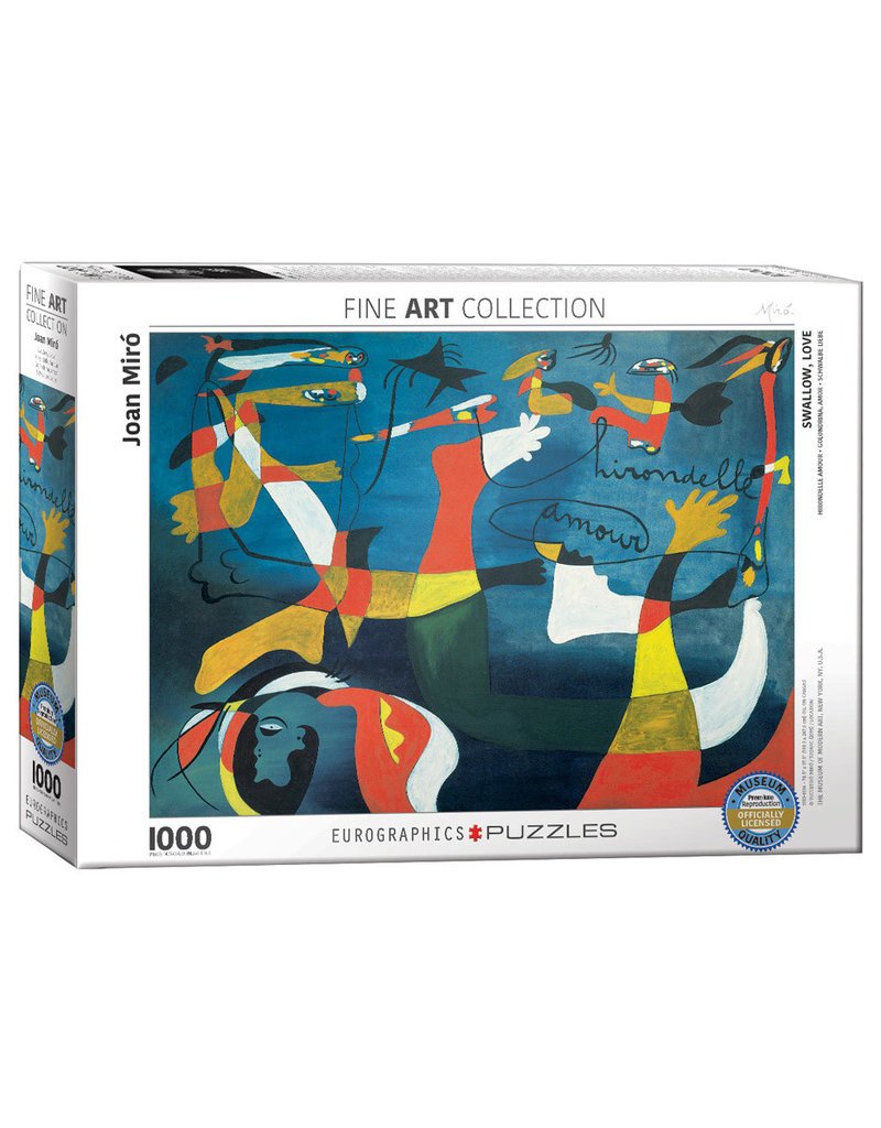 Eurographics SWALLOW LOVE  by Joan Miro (1000 pieces)