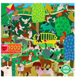 eeBoo Puzzle: DOGS IN THE PARK (1000 pieces)