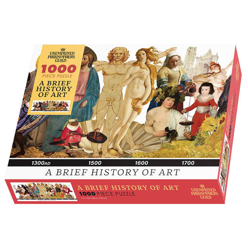 Unemployed Philosopher's Guild A BRIEF HISTORY OF ART (1000 pieces)