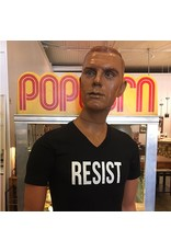 RESIST V-Neck T-shirt in  Black