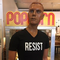 RESIST V-Neck T-shirt in  Black