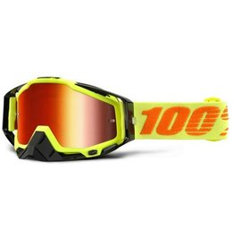 100% 100% Racecraft Goggle Attack Yellow /Mirror Red Lens